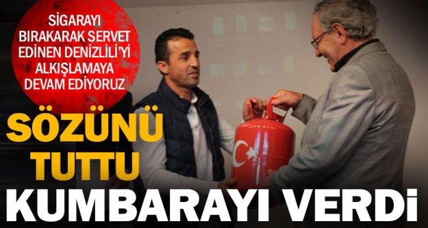 Öğrenciler sigarayı bıraktırdı, kumbarayı Mehmet Usta verdi