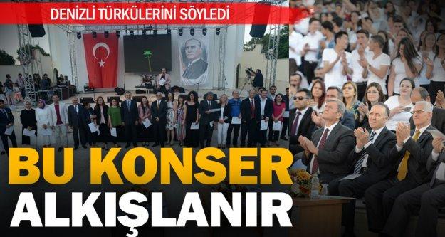 'Denizli Türkülerini Söylüyor' konseri büyük beğeni topladı