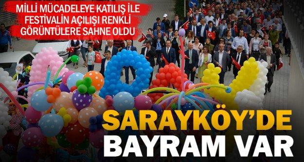 Sarayköy'de bayram havası esti