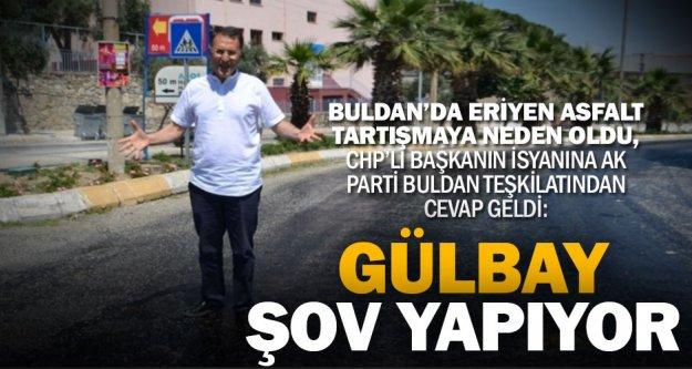 Buldan'da asfaltı eriyen yol tartışma yarattı
