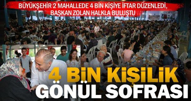 Büyükşehir'den 2 mahallede 4 bin kişiye iftar