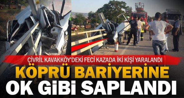Çivril Kavakköy'de feci kaza: İki yaralı