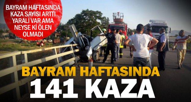 Denizli'de bayram haftasında 68'i yaralamalı 141 kaza meydana geldi