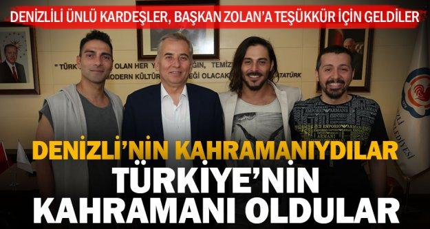 Denizlili Ünlü Oyunculardan ve Mehmet Çağrı Sebzeci'den Başkan Zolan'a Teşekkür Ziyareti