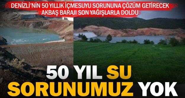 Denizli'nin yeni içmesuyu deposu Akbaş Barajı'nda su yükseliyor