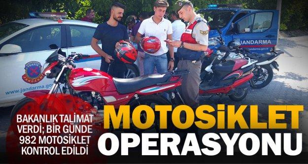 Bakanlıktan talimat: Motosikletleri kontol edin