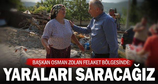 Başkan Zolan: Yangının yaralarını saracağız