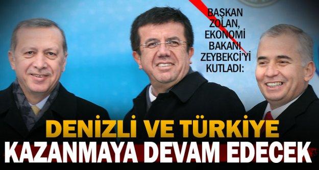 Başkan Zolan'dan Zeybekci'ye kutlama mesajı