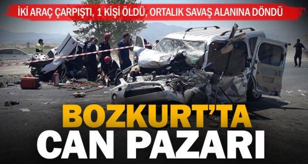 Bozkurt'taki feci kazada 1 kişi öldü