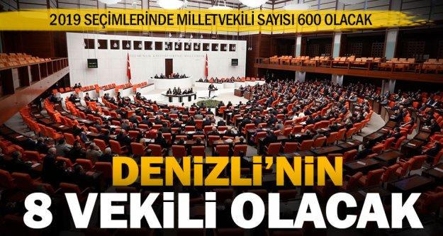 Denizli, 2019'da 600 milletvekilinin 8'ini Başkent'e gönderecek