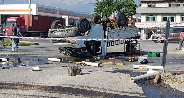 Hacıeyüplü girişindeki kazada 4 kişi yaralandı