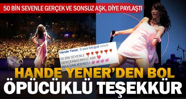 Hande Yenener'den Denizli paylaşımı