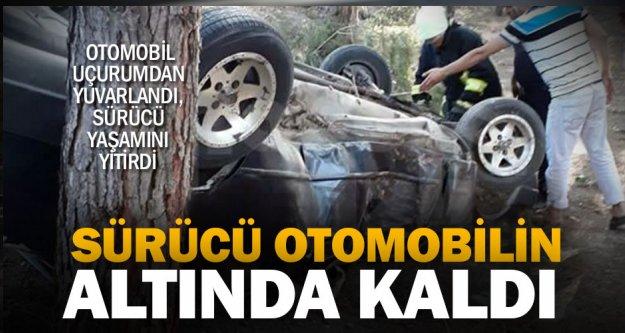 Honaz Ovacık'ta otomobil uçuruma yuvarlandı, sürücüsü kurtarılamadı