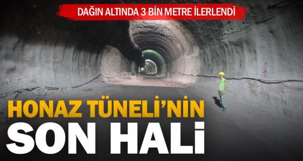 Honaz Tüneli'nde sağ ve sol iki tüpte 3 bin metre ilerlendi