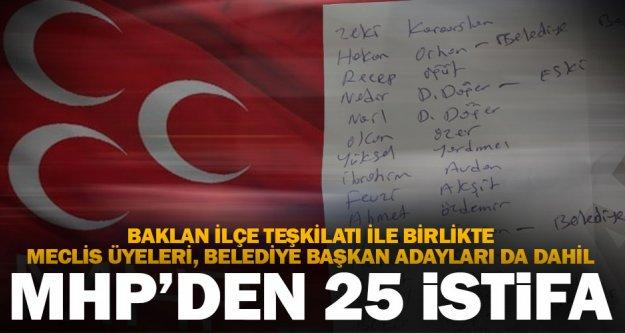 MHP'nin Baklan ilçe yönetimi dahil 25 kişi istifa etti