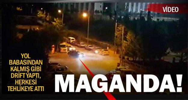Trafik magandası herkesi tehlikeye attı