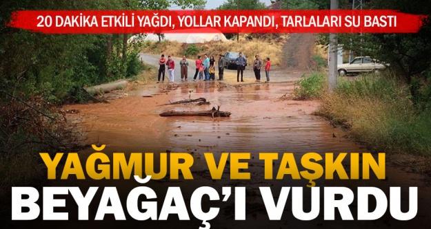 Beyağaç'ta aşırı yağmur felaket getirdi