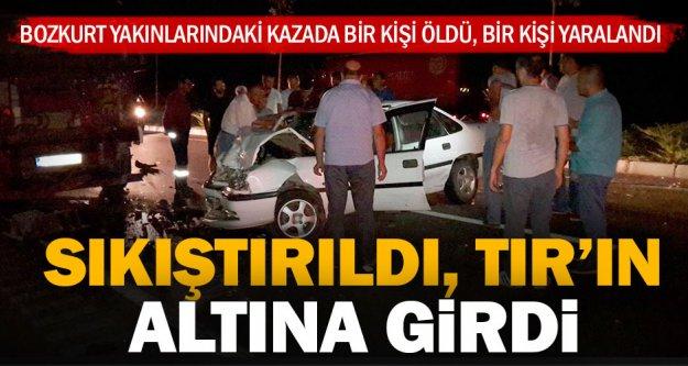 Bozkurt'taki kazada bir kişi öldü, bir kişi yaralandı