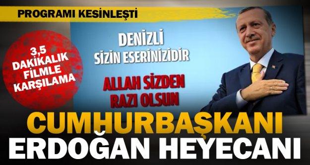 Cumhurbaşkanı Erdoğan'a filmli karşılama