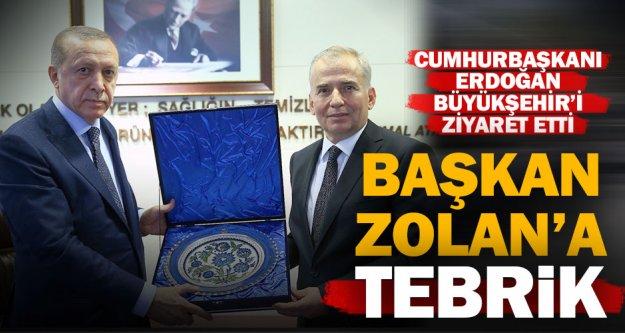 Cumhurbaşkanı Erdoğan'dan Başkan Osman Zolan'a ziyaret