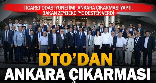 DTO'dan Bakan Zeybekci'ye destek