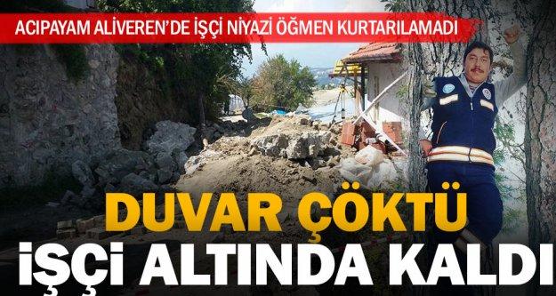 Kanalizasyon inşaatında göçük bir işçi öldü