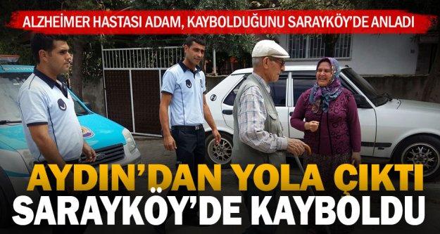 Kaybolan alzheimer hastase Sarayköy zabıta ekipleri tarafından ailesine teslim edildi
