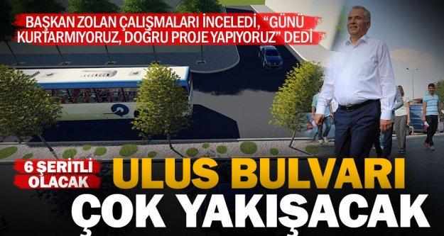 Ulus Bulvarı, trafiğe rahatlık, Denizli'ye prestij getirecek
