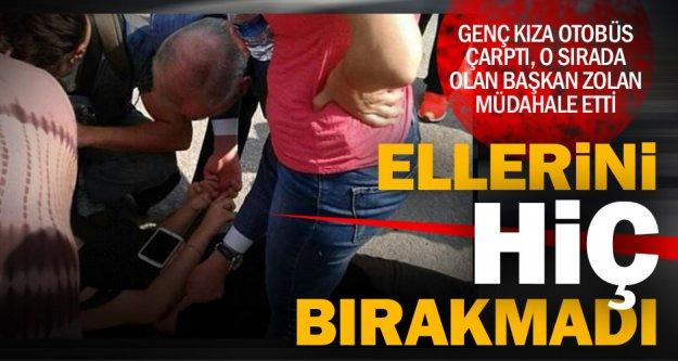 Yaralıya ilk müdahale Başkan Zolan'dan