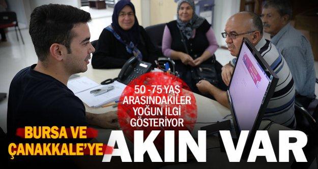 Bursa ve Çanakkale'ye yoğun ilgi