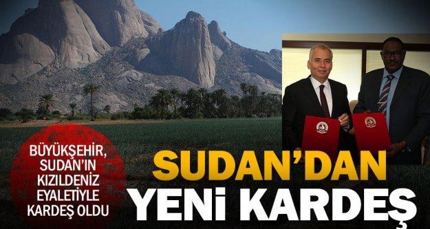 Büyükşehir'e Sudan'dan kardeş şehir