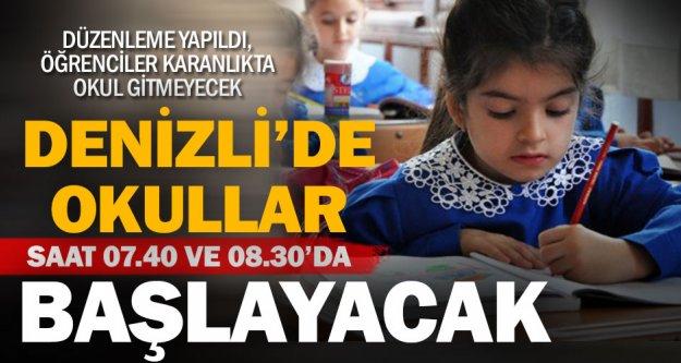 Denizli'de okullar gün aydınlanınca başlayacak