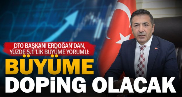 DTO Başkanı Erdoğan'dan, yüzde 5.1'lik büyüme yorumu