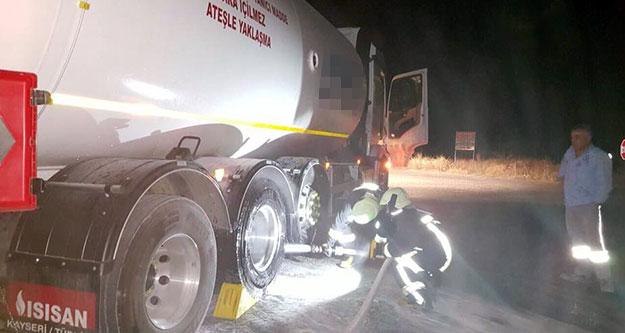 LPG tankeri yangını son anda önlendi