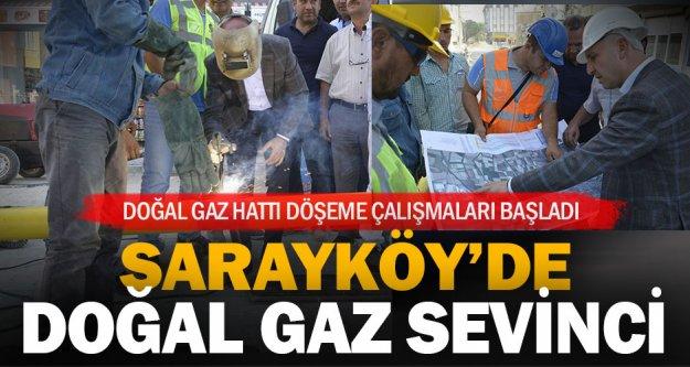 Sarayköy'de doğal gaz hattı döşeme çalışmaları start aldı