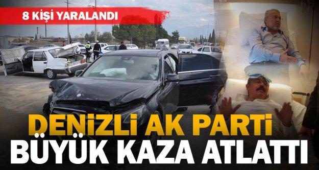 AK Partili Vekil Tin'in otomobili kaza yaptı: 8 yaralı