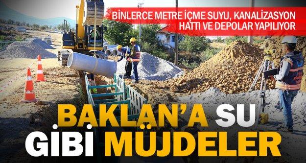 Baklan'ın alt yapısı yeniden inşa ediliyor