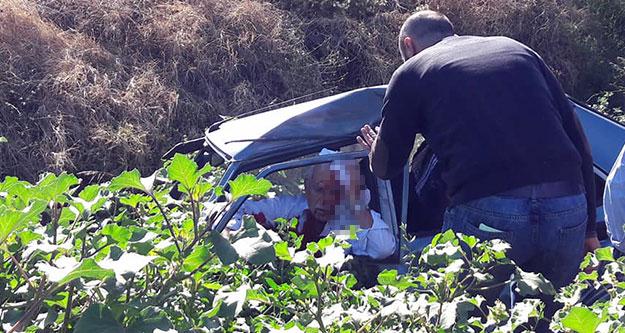 Buldan kavşağında kaza: 2 yaralı