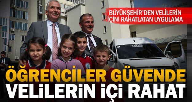 Büyükşehir'den öğrenci servislerinde Türkiye'de bir ilk