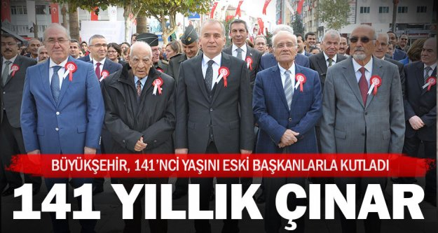 Denizli Büyükşehir 141. yılını eski başkanlarla kutladı