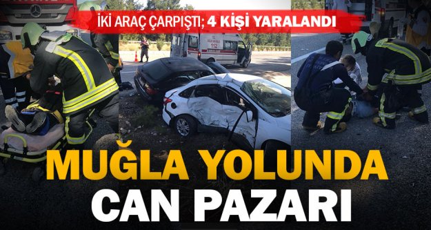 Kale'deki kazada 4 kişi yaralandı