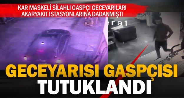Kar maskeli silahlı gaspçı tutuklandı