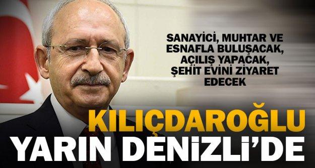 Kılıçdaroğlu, 12 Ekim'de Denizli'de