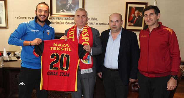 Kızılcabölükspor'dan Başkan Zolan'a teşekkür
