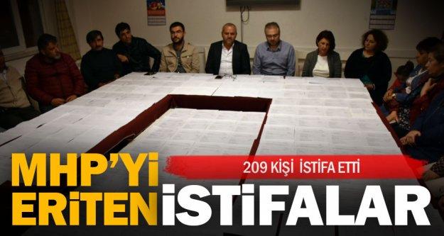 MHP Denizli'den 209 kişi daha istifa etti
