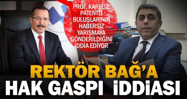 Öğretim üyesinden rektör hakkında 'hak gaspı' iddiasıyla suç duyurusu