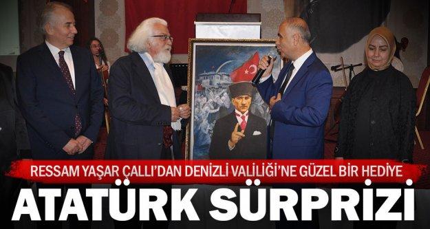 Ressam Çallı'dan Vali Karahan'a Atatürk tablosu