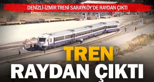 Sarayköy'de tren raydan çıktı