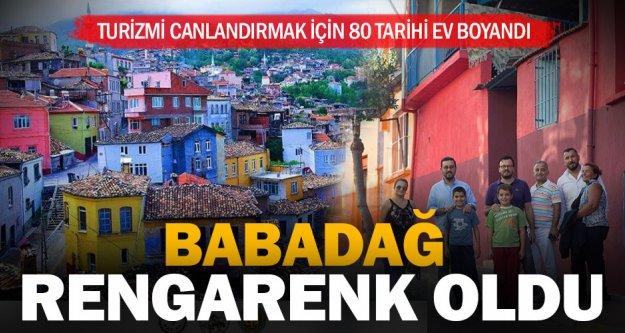 Turizmi canlandırmak için 80 tarihi ev boyandı