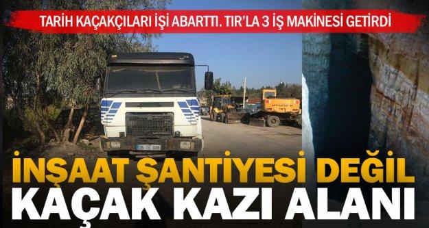 2 kazıcı, 1 kepçe ve TIR'la tarihi eser arayan 8 kişiye gözaltı